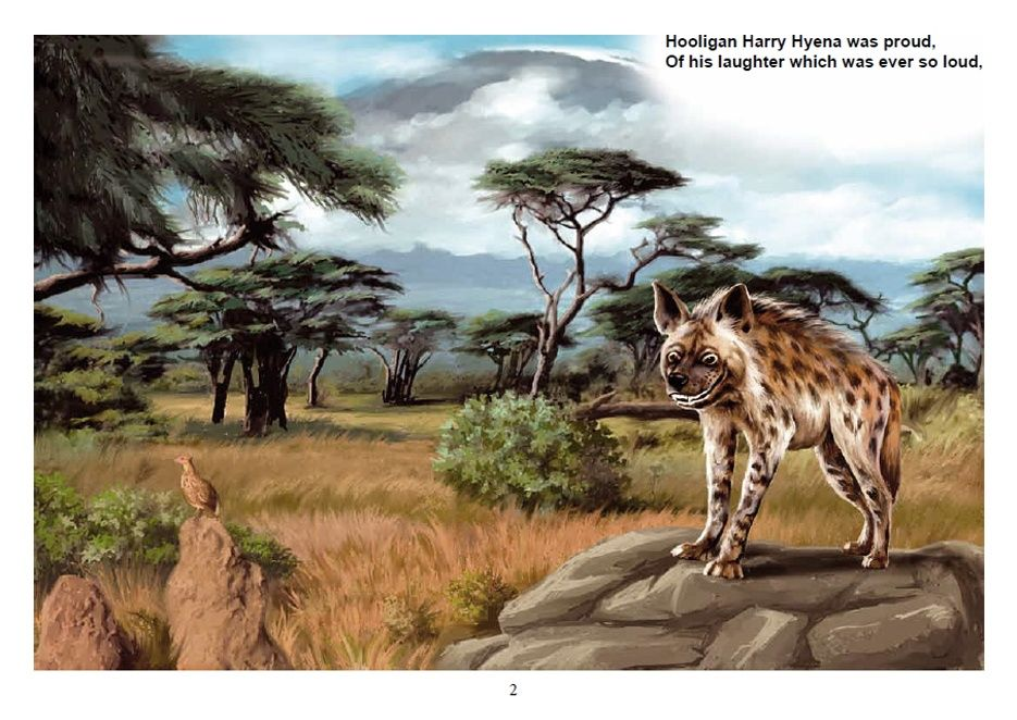 "Illustration to the book ""Hooligan Harry Hyena"""